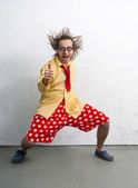 Funny clown — Stock Photo