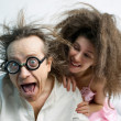 Stock Photo: Amusing portrait of spouses