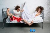 Pareja en la cama — Foto de Stock