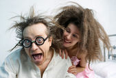 Amusing portrait of spouses — Stock Photo