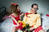 Quarrel of spouses — Stock Photo