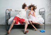 Married couple in the bed — Stock Photo