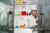 Crazy chemist — Stock Photo