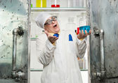 Crazy chemist — Stock Photo