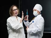 Médecin et le patient — Photo