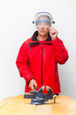 Worker with helmet — Stock Photo