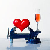Heart in the vice — Stock Photo
