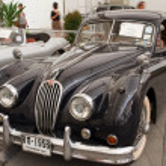 Jaguar XK140, Vintage cars — Stock Photo #12617106