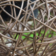 Woven wicker or bamboo balls — Stock Photo