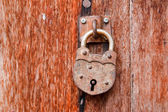 Antique old key has been locking — Stock Photo