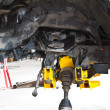 Stock Photo: Suspension assembly of off-road vehicle