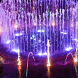 Stock Photo: Fountain night lights.