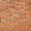 Red brick wall texture — Foto Stock