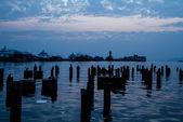 Ships near the pier. Bang Bao village. Koh Chang island. — Stock Photo