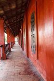 Building red Chanthaburi Thailand — ストック写真
