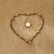 Love on the sand — Stock Photo #40848987