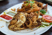 Thailand Food Fish Garlic — Stockfoto