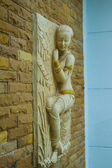 Thai ancient stone carving — Stock Photo