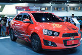Bangkok -March 30 : New Edition of Manchester United car of Chev — Stock Photo