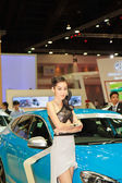 BANGKOK - MARCH 30 : Unidentified model with Volvo on display at — Stock Photo