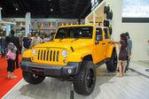 BANGKOK - MARCH 30: Jeep Wrangler Sahara car on display at The 3 — Stock Photo