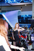 BANGKOK - MARCH 30 : Unidentified model with Benelli on display  — Stock Photo