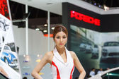 BANGKOK - MARCH 30 : Unidentified model with  on display at The  — Stock Photo