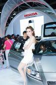 BANGKOK THAILAND-MARCH 30 : Unidentified models pose on Honda bo — Stock Photo