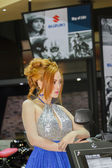 BANGKOK - MARCH 30 Unidentified model with Suzuki on display at  — Stock Photo