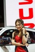 BANGKOK - MARCH 30 : Unidentified models present with Isuzu car — Stock Photo