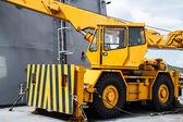 Yellow Crane truck — Stock Photo
