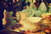 古董瓷器茶杯子 — 图库照片