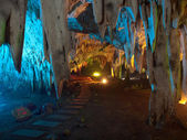 Tham Khao Bin cave — Stock Photo