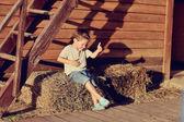 Saman çocuk — Stok fotoğraf
