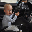 Driving child — Stock Photo
