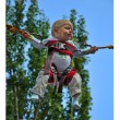 Child parachutist — Stock Photo