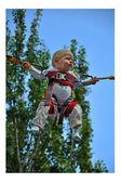Pára-quedista criança — Fotografia Stock