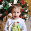 Boy and a Christmas tree — Stock Photo #13946724