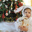 Boy and a Christmas tree — Stock Photo #13946844