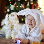 Boy and a Christmas tree — Stock Photo #13946846