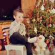 Boy under the tree model — Stock Photo