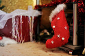 Christmas sock — Stockfoto