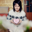 Stock Photo: Girl with heart