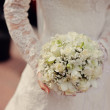 The bride with a bouquet — Stock Photo