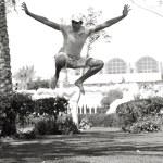 Guy in jump — Stock Photo