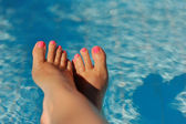 Beautiful pedicure — Stockfoto