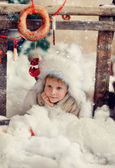 Fluffy snow — Stockfoto