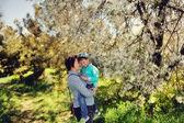 Spring flowering garden — Stock Photo