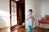 Boy in the room — Stock Photo