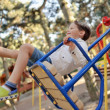 Boy on a swing — Stock Photo